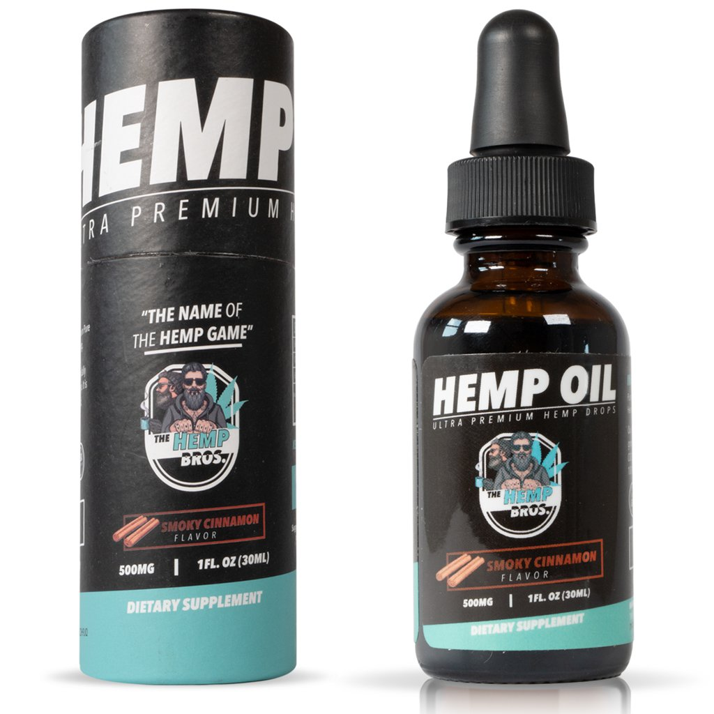 CBD hemp oil bottle dropper from The Hemp Bros