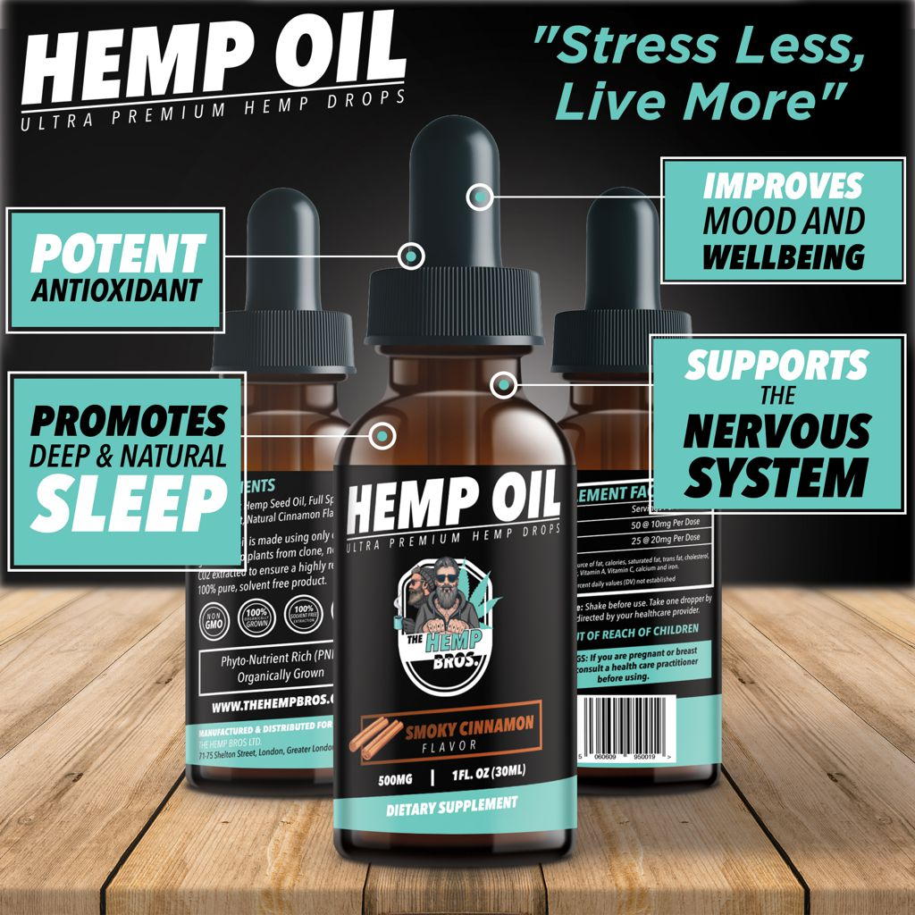 Benefits of CBD hemp oil drops from The Hemp Bros