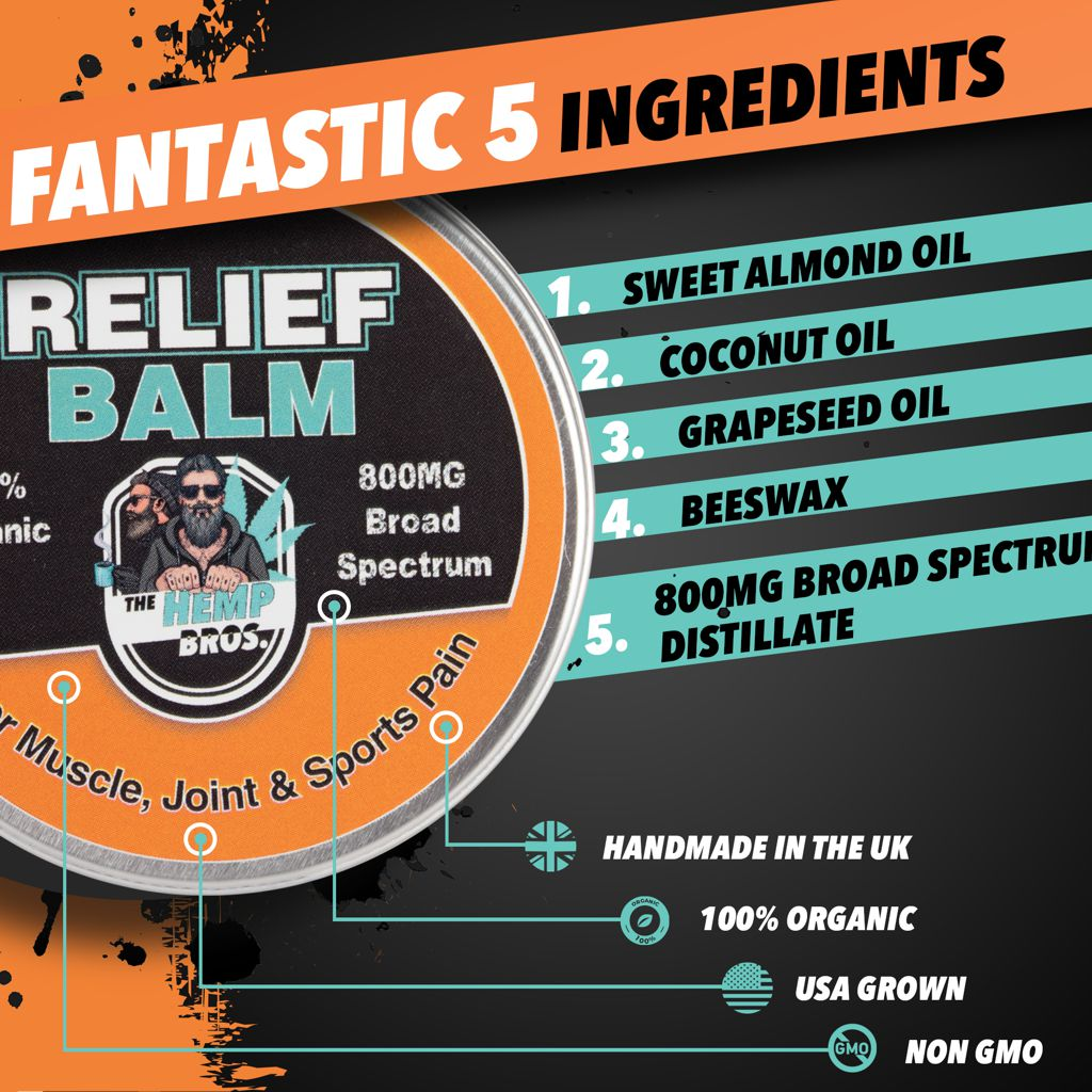 CBD pain relief balm ingredients